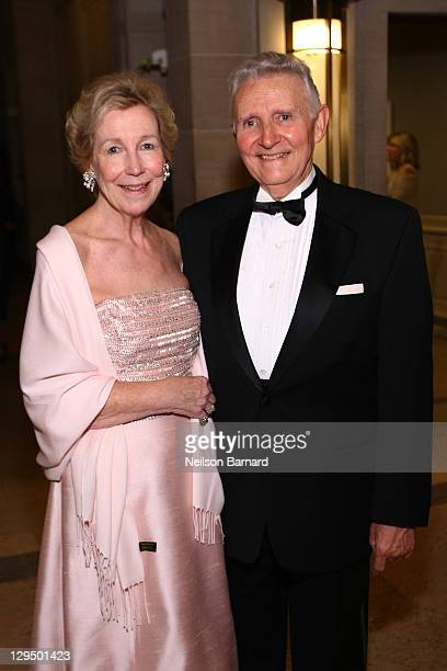 Director Emerita Anne L Poulet and Francois Poulet attend the 2011 Frick Collection Autumn Dinner Honoring Anne L Poulet at The Frick Collection on...