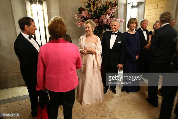 Director Emerita Anne L Poulet greets guests at the 2011 Frick Collection Autumn Dinner Honoring Anne L Poulet at The Frick Collection on October 17...