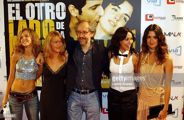 Director Emilio Martinez Lazaro along with actresses Leticia Dolera Maria Estevez Natalia Verbeke and Paz Vega attend the premier of the film Al otro...