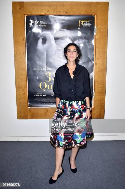 Director Emily Atef attends the '3 Jours A Quiberon' Paris Premiere at Cinema Arlequin on June 11 2018 in Paris France