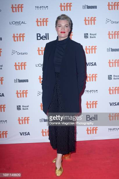 Director Emma Tammi attends the Midnight Madness red carpet premiere for The Wind during the Toronto International Film Festival at Ryerson Theatre...