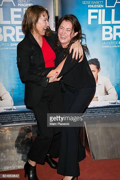 Director Emmanuelle Bercot and actress Sidse Babett Knudsen attend 'La fille de Brest' at UGC Cine Cite des Halles on November 21 2016 in Paris France