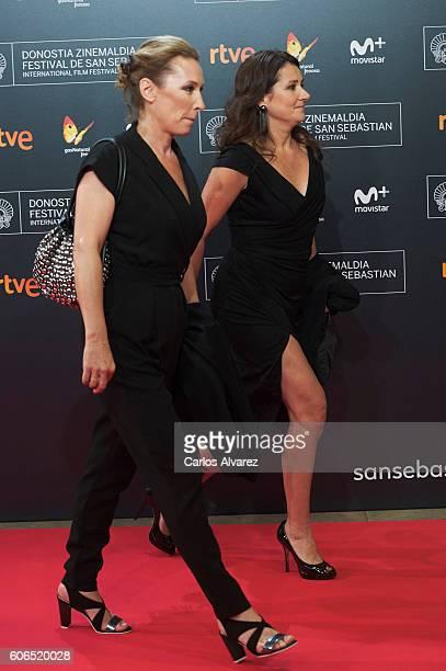Director Emmanuelle Bercot and actress Sidse Babett Knudsen attend the opening gala during 64th San Sebastian International Film Festival at Kursaal...