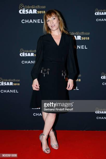 Director Emmanuelle Bercot attends the 'Cesar Revelations 2018' Party at Le Petit Palais on January 15 2018 in Paris France