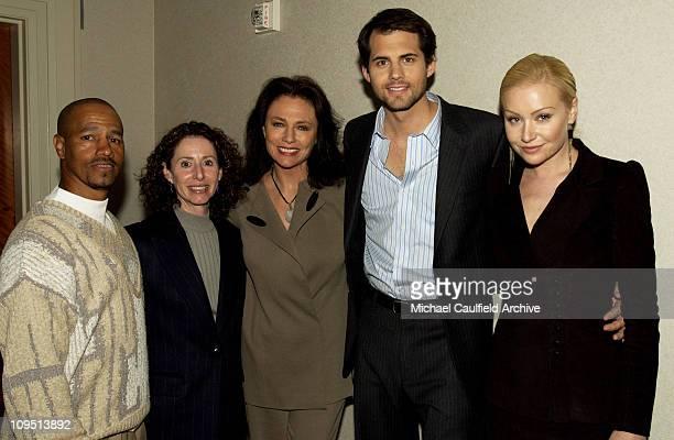 Director Eric Laneuville executive producer Bonnie Raskin Jacqueline Bisset Kristoffer Polaha and Portia de Rossi