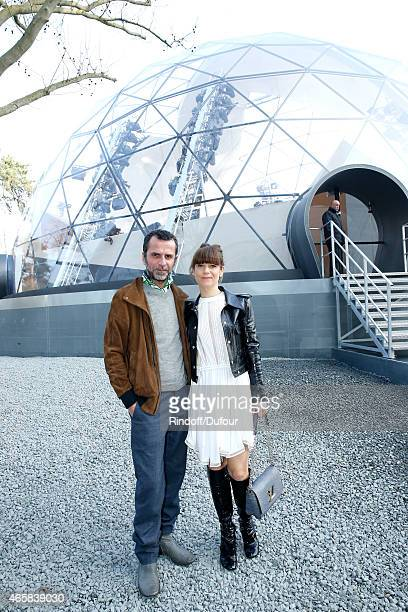 Director Eric Lartigau and actress Marina Fois attend the Louis Vuitton show as part of the Paris Fashion Week Womenswear Fall/Winter 2015/2016 on...
