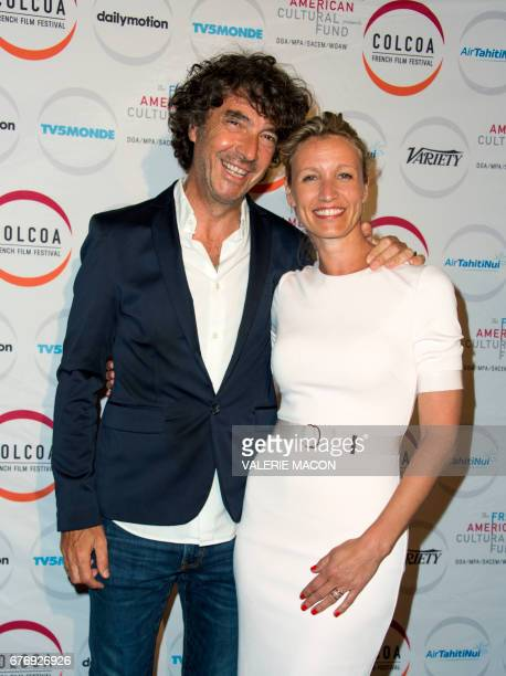 Director Eric Lavaine and actress Alexandra Lamy attend Colcoa French Film Festival day 9 on May 2 in Los Angeles, California. / AFP PHOTO / VALERIE...