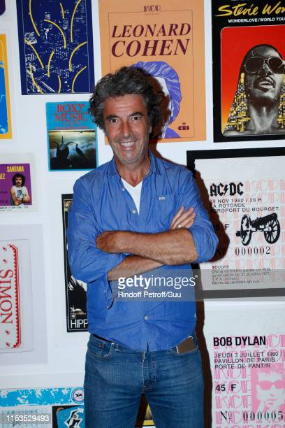 Director Eric Lavaine attends Albert Koski exposes its Rock&Roll Posters Collection at Galerie Laurent Godin on June 03, 2019 in Paris, France.