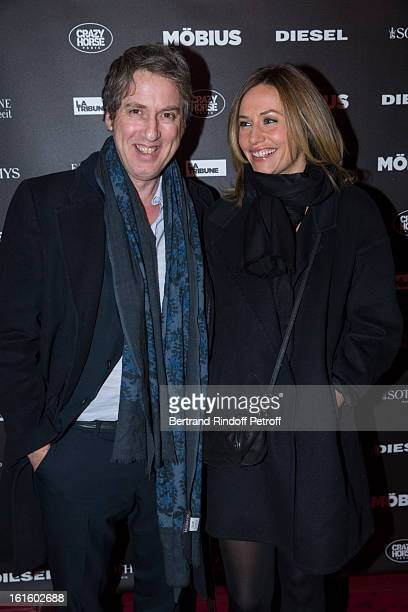 Director Eric Rochant and actress Cecile de France attend an after party following the premiere of the movie Mobius as part of 'Avenue des Champs...