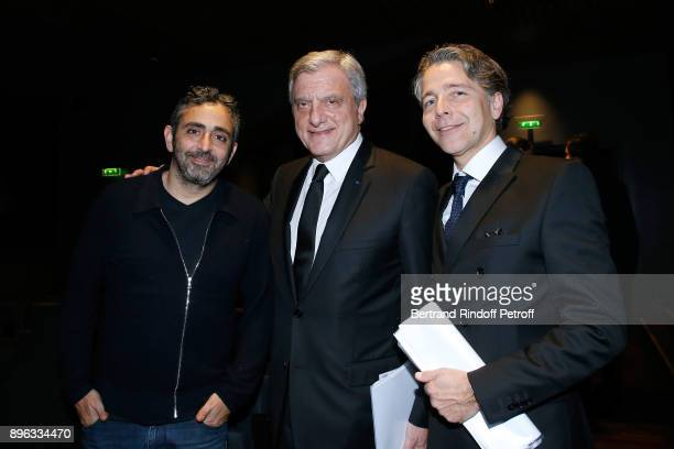Director Eric Toledano CEO of Dior Sidney Toledano and Executive Officer of the PasteurWeizmann David Weizmann attend the Gala evening of the...