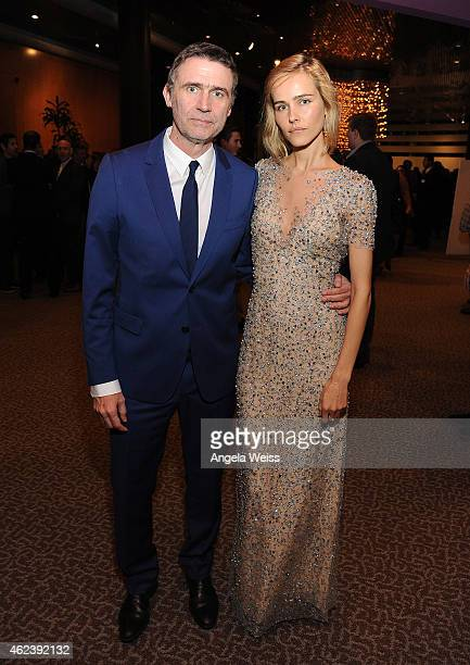 Director Erik Van Looy and actress Isabel Lucas attend the screening after party of Open Road Films' The Loft at Directors Guild Of America on...