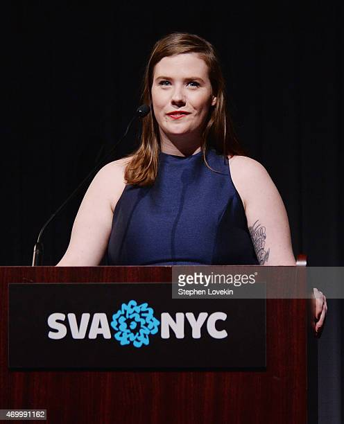 Director Erin Lee Carr attends the world premiere of HBO's Thought Crimes as part of The Tribeca Film Festival at SVA Theater on April 16 2015 in New...