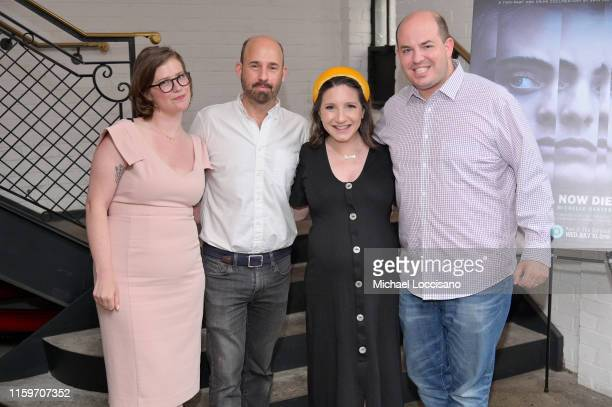 Director Erin Lee Carr producer Andrew Rossi and reporters Jamie Shupak Stelter and husband Brian Stelter attend the New York premiere of the HBO...
