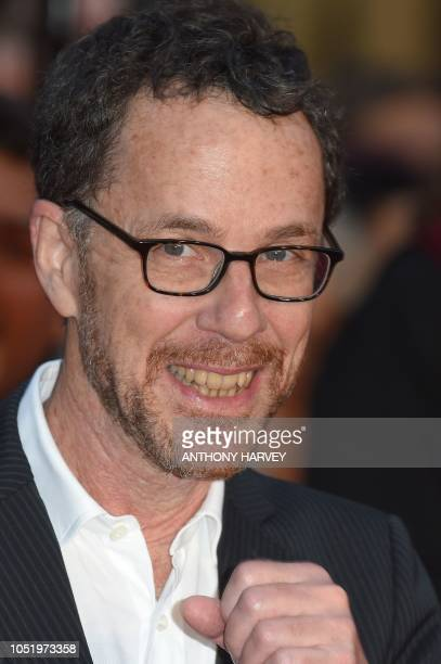 US director Ethan Coen poses upon arrival for the UK premiere of the film 'The Ballad of Buster Scruggs' during the BFI London Film Festival in...