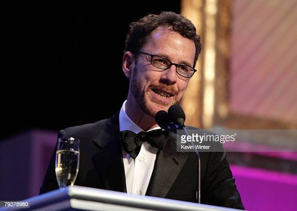 Director Ethan Cohen accepts the Outstanding Directorial Achievement in a Feature Film Award for No Country For Old Men onstage during the 60th...