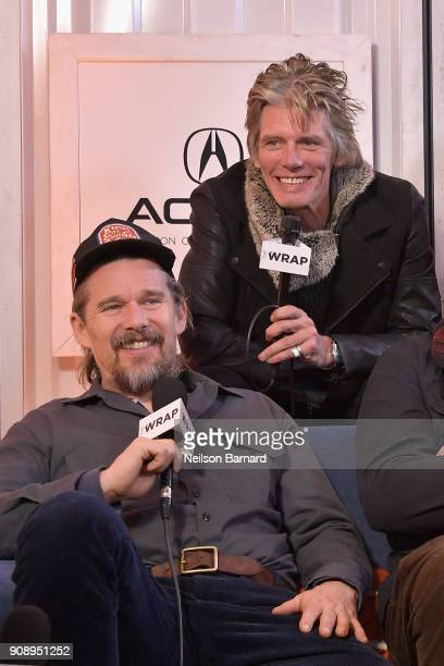 Director Ethan Hawke and actor Charlie Sexton of 'Blaze' attend the Acura Studio at Sundance Film Festival 2018 on January 22 2018 in Park City Utah