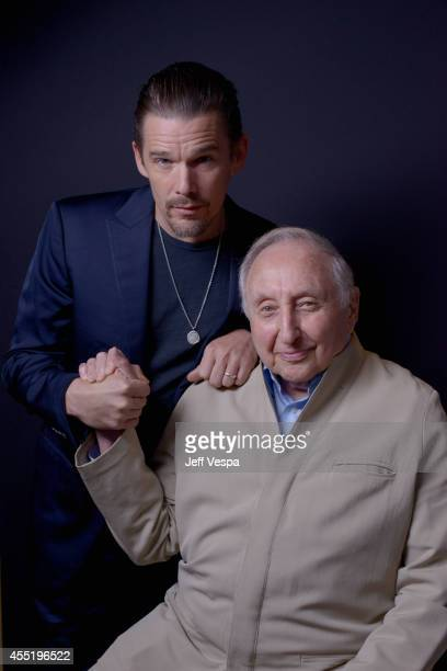 Director Ethan Hawke and pianist Seymour Bernstein of 'Seymour An Introduction' pose for a portrait during the 2014 Toronto International Film...