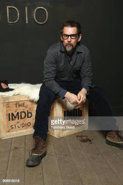 Director Ethan Hawke of 'Blaze' attends The IMDb Studio and The IMDb Show on Location at The Sundance Film Festival on January 22 2018 in Park City...