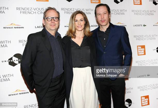 Director Etienne Comar and actors Cecile de France and Reda Kateb attend the 2017 RendezVous With French Cinema Opening Night Premiere Of Django at...