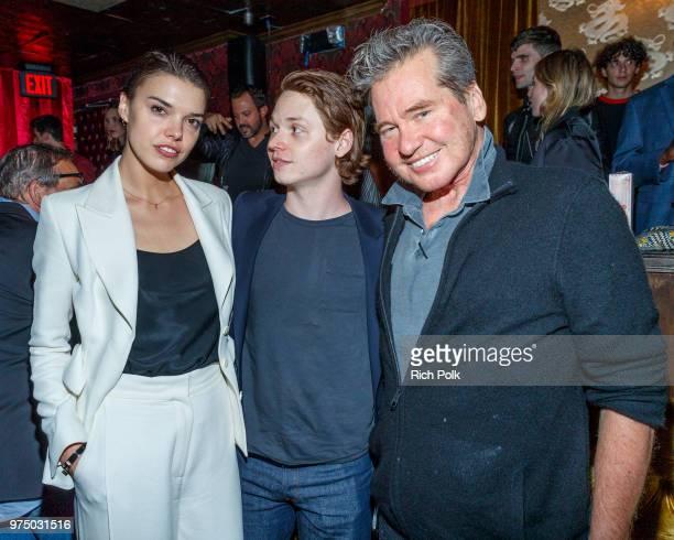 "Director Eva Doležalová and actors Jack Kilmer and Val Kilmer attend an event where Flaunt Presents a private screening of Eva Dolezalova's ""Carte..."