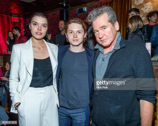 Director Eva Doležalová and actors Jack Kilmer and Val Kilmer attend an event where Flaunt Presents a private screening of Eva Dolezalova's 'Carte...