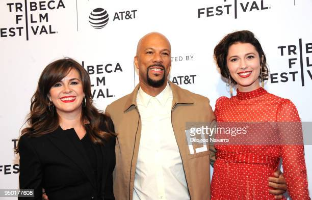 Director Eva Vives, actors Common and Mary Elizabeth Winstead attend 2018 Tribeca Film Festival - 'All About Nina' at SVA Theater on April 22, 2018...