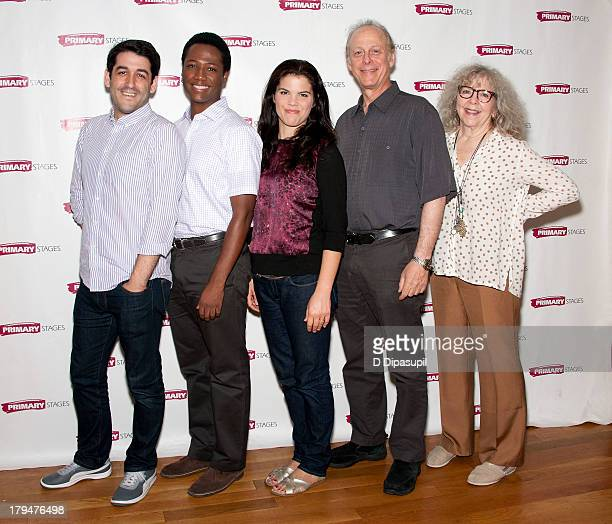 Director Evan Cabnet and actors Hubert PointDu Jour Diane Davis Mark Blum and Kathryn Grody attend the Meet the Company of The Model Apartment press...