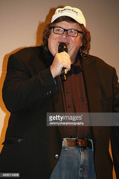 Director / Executive Producer Michael Moore speaks during the 25th Anniversary screening of Roger Me during the 2014 Toronto International Film...