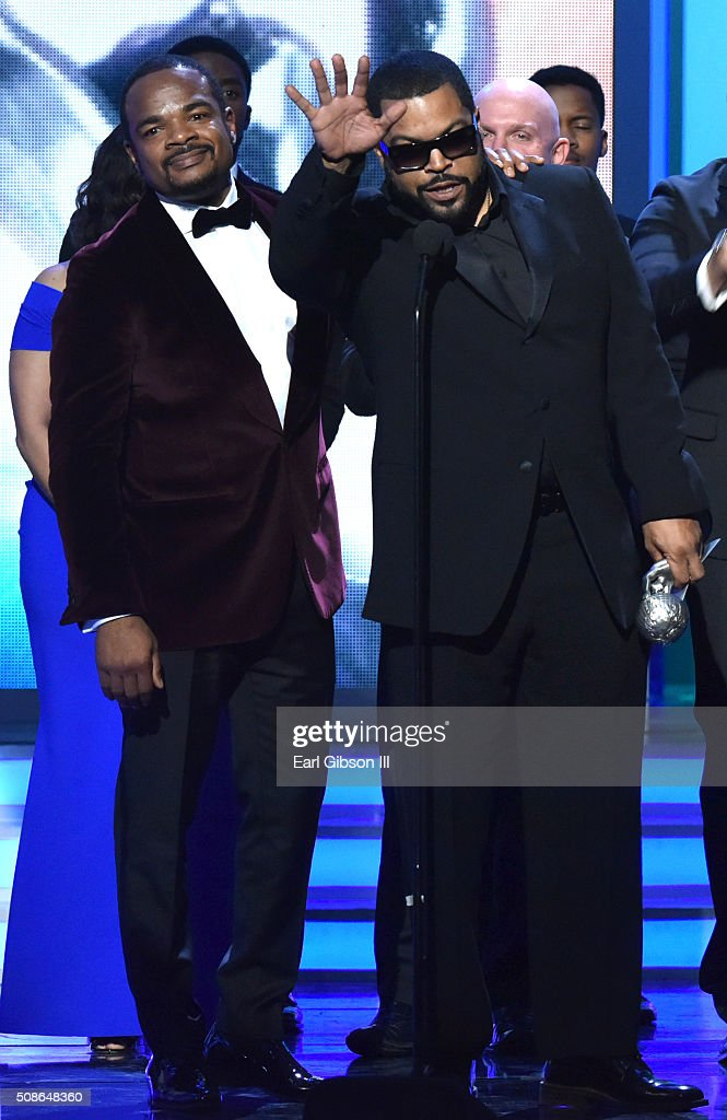 Director F. Gary Gray (L) and actor Ice Cube accepting the Outstanding Motion Picture Award onstage during the 47th NAACP Image Awards presented by TV One at Pasadena Civic Auditorium on February 5, 2016 in Pasadena, California.