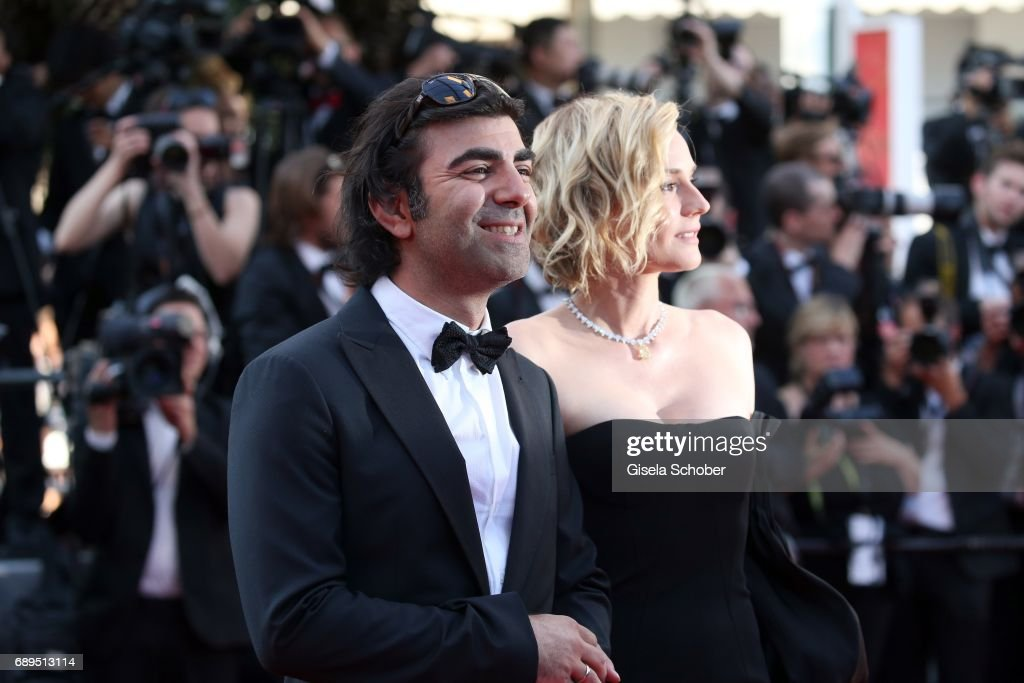 Director Fatih Akin and Diane Kruger attend the Closing Ceremony of the 70th annual Cannes Film Festival at Palais des Festivals on May 28, 2017 in Cannes, France.