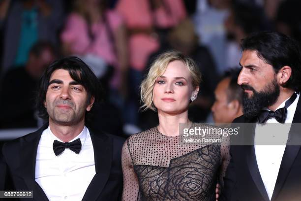 director Fatih Akin Diane Kruger and Numan Acar attends the 'In The Fade ' screening during the 70th annual Cannes Film Festival at Palais des...
