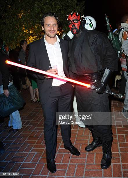 Director Fede Alvarez and Darth Maul of Dark Side Riders attend the After Party for the 40th Annual Saturn Awards held at on June 26 2014 in Burbank...