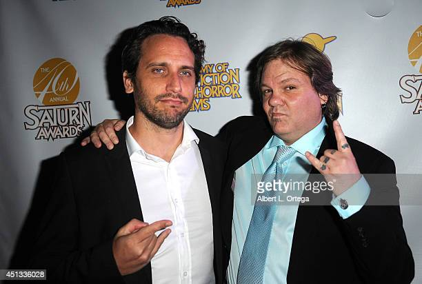 Director Fede Alvarez and makeup artist Patrick Baxter attend the After Party for the 40th Annual Saturn Awards held at on June 26 2014 in Burbank...