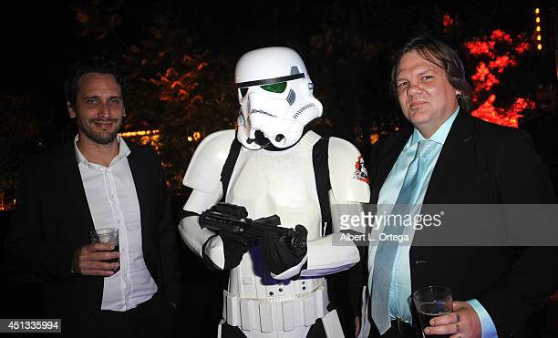 Director Fede Alvarez stormtrooper from Dark Side Riders and makeup artist Patrick Baxter attend the After Party for the 40th Annual Saturn Awards...