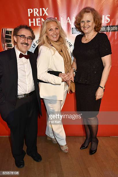 Director Ferid Boughedir Martine Vidal and Katia Tchenko attend Henri Langlois 11th Award Ceremony At Maison de La Radio on April 11 2015 in Paris...