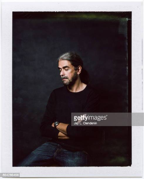 Director Fernando León de Aranoa from the film Loving Pablo is photographed on polaroid film at the LA Times HQ at the 42nd Toronto International...