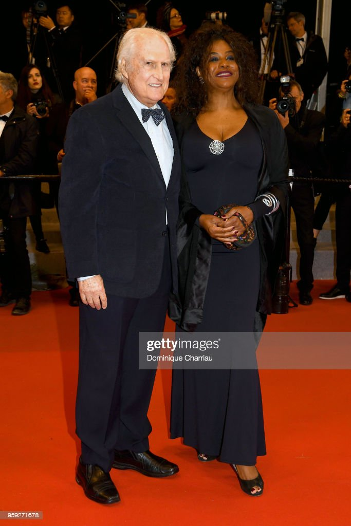 Director Fernando Solanas and his wife Angela Correa attend the screening of 'Dogman' during the 71st annual Cannes Film Festival at Palais des Festivals on May 16, 2018 in Cannes, France.