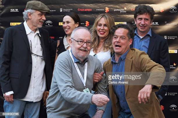 Director Fernando Trueba Spanish actress Ariadna Gil Jose Luis Garcia Sanchez Miriam Diaz Aroca Jorge Sanz and Gabino Diego attend 'Belle Epoque'...