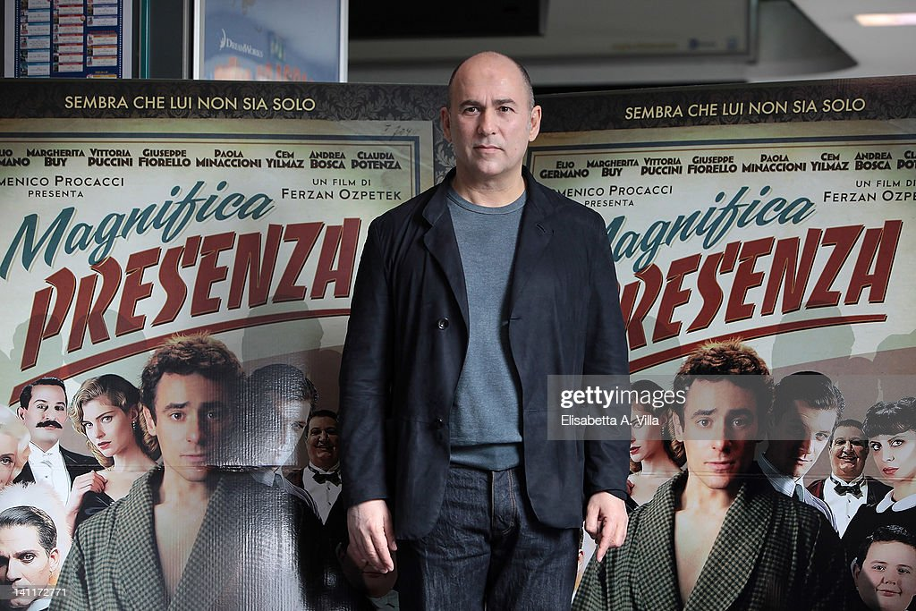 Director Ferzan Ozpetek attends 'Magnifica Presenza' photocall at Adriano Cinema on March 12, 2012 in Rome, Italy.