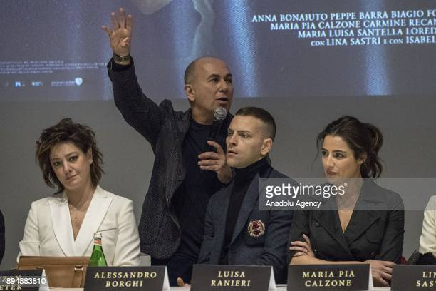 Director Ferzan Ozpetek speaks during press conference of the movie 'Napoli Velata' at Palazzo Massimo alle Terme in Rome Italy on December 18 2017...