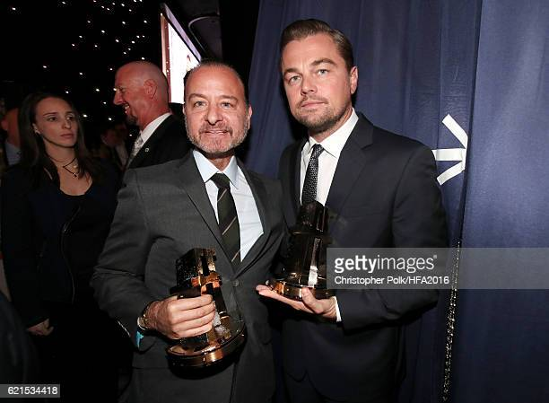 Director Fisher Stevens and actor/producer Leonardo DiCaprio recipients of the Hollywood Documentary Award for Before The Flood attend the 20th...