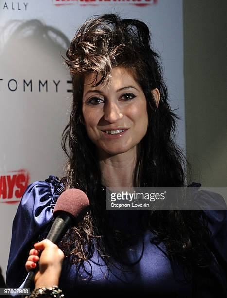 Director Floria Sigismondi attends the premiere of The Runaways at Landmark Sunshine Cinema on March 17 2010 in New York City
