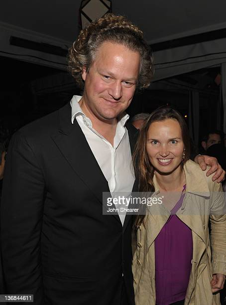 Director Florian Henckel Von Donnersmarck and Christiane Asschenfeldt attend the party hosted by the Weinstein Company and Audi to Celebrate Awards...
