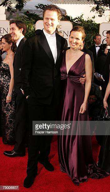 Director Florian Henckel von Donnersmarck and wife Christiane Asschenfeldt arrive at the 64th Annual Golden Globe Awards at the Beverly Hilton on...