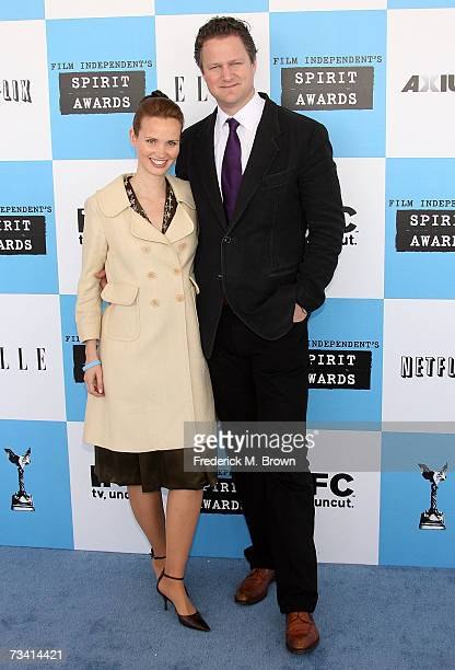 Director Florian Henckel von Donnersmarck winner of the Best Foreign Film award for The Lives Of Others poses with his wife Christiane Asschenfeldt...