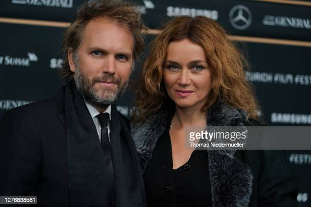 "Director Florian Zeller and Marine Delterme attend the ""The Father"" photocall during the 16th Zurich Film Festival at Kino Corso on September 26,..."