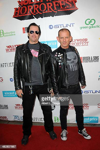 Director Ford Austin and actor Ezra Buzzington attend Hollywood Horrorfest Presentation of 'Return Of The Living Dead' Screening held at The New...