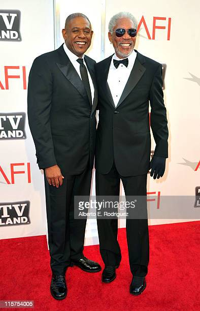 Director Forest Whitaker and 39th Life Achievement Award recipient Morgan Freeman arrive at the 39th AFI Life Achievement Award Honoring Morgan...