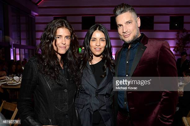 Director Francesca Gregorini actress Olga Segura and coowner of Decades Cameron Silver attend The Art of Elysium's 7th Annual HEAVEN Gala presented...