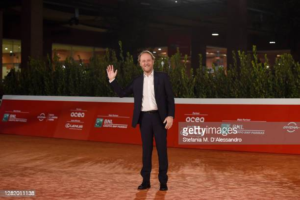 """Director Francesco Bruni attends the red carpet of the movie """"Cosa Sarà"""" during the 15th Rome Film Festival on October 24, 2020 in Rome, Italy."""
